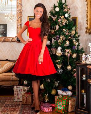 Платье из бархата на Новый год